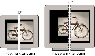 Képátméretezés különböző képernyőn