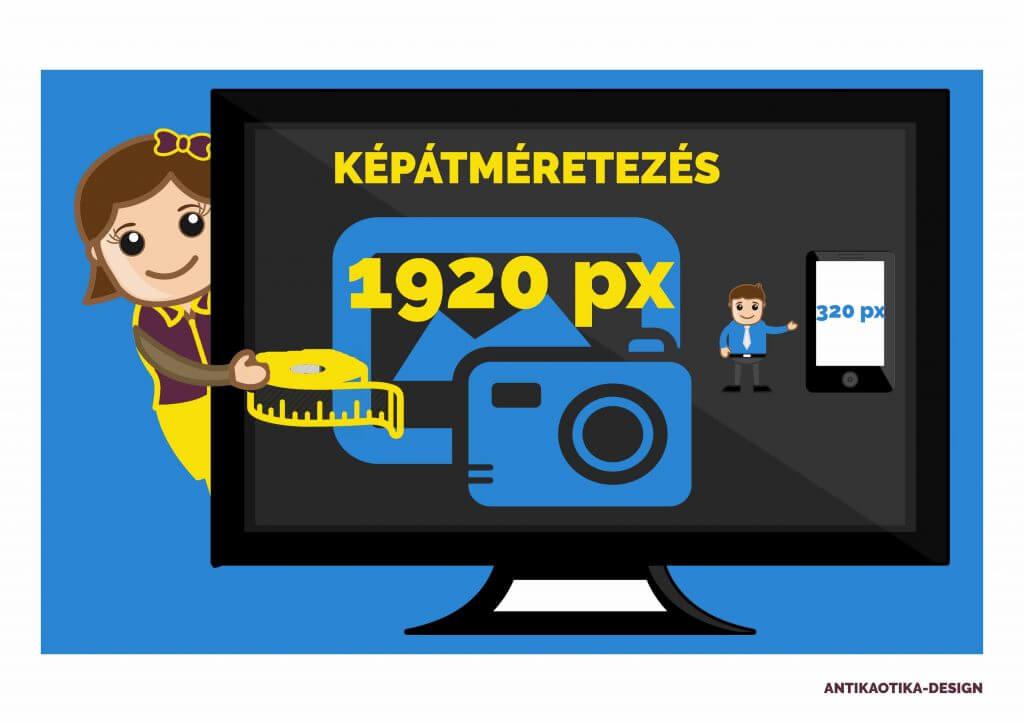 képátméretezés - képoptimalizálás