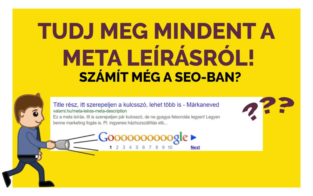 Meta leírás hossza, meta description SEO, Google